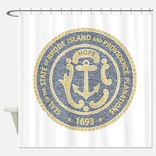 Vintage Rhode Island Seal Shower Curtain
