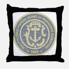 Vintage Rhode Island Seal Throw Pillow