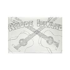 Rhode Island Guitars Rectangle Magnet (100 pack)