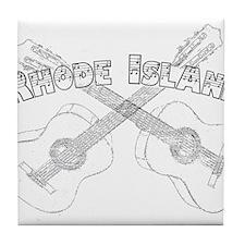 Rhode Island Guitars Tile Coaster