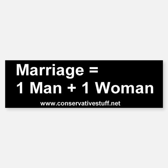 Marriage = 1 Man + 1 Woman