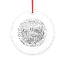 Newport Rhode Island Vintage Seal Ornament (Round)