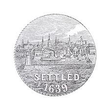 "Newport Rhode Island Vintage Seal 3.5"" Button"