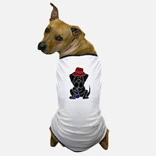 Black Newfoundland Playing Saxophone Dog T-Shirt