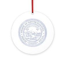Blue South Dakota State Seal Ornament (Round)