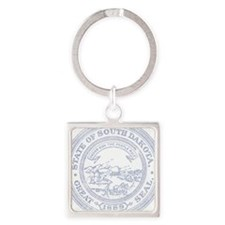 Blue South Dakota State Seal Keychains