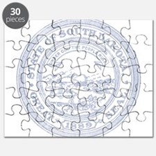 Blue South Dakota State Seal Puzzle