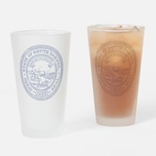 Blue South Dakota State Seal Drinking Glass
