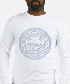 Blue South Dakota State Seal Long Sleeve T-Shirt