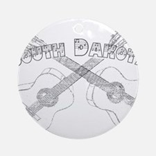South Dakota Guitars Ornament (Round)
