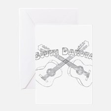 South Dakota Guitars Greeting Card
