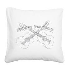South Dakota Guitars Square Canvas Pillow