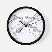 South Dakota Guitars Wall Clock