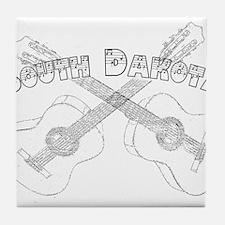 South Dakota Guitars Tile Coaster