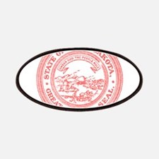 Red South Dakota State Seal Patches