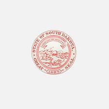 Red South Dakota State Seal Mini Button