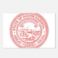 Red South Dakota State Seal Postcards (Package of