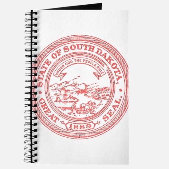 Red South Dakota State Seal Journal