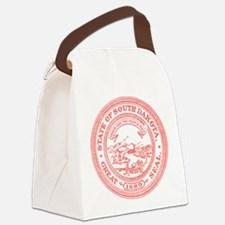 Red South Dakota State Seal Canvas Lunch Bag