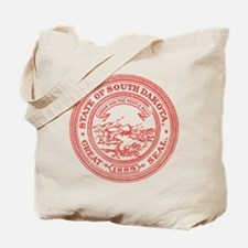 Red South Dakota State Seal Tote Bag