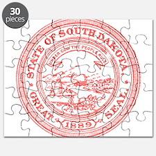 Red South Dakota State Seal Puzzle