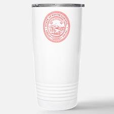 Red South Dakota State Seal Travel Mug