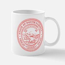 Red South Dakota State Seal Mug