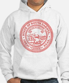 Red South Dakota State Seal Hoodie