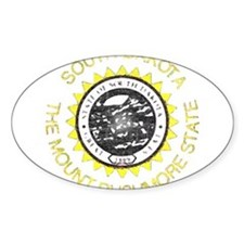 South Dakota Vintage State Flag Decal
