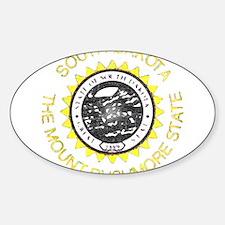 South Dakota Vintage State Flag Decal