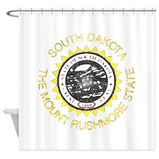 South Dakota Vintage State Flag Shower Curtain