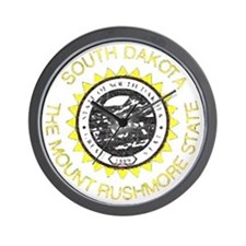 South Dakota Vintage State Flag Wall Clock