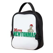 Merry Newtonmas Neoprene Lunch Bag