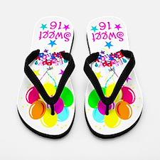 HAPPY 16TH Flip Flops