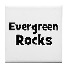 evergreen rocks Tile Coaster