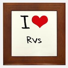 I Love Rvs Framed Tile