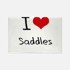 I Love Saddles Rectangle Magnet