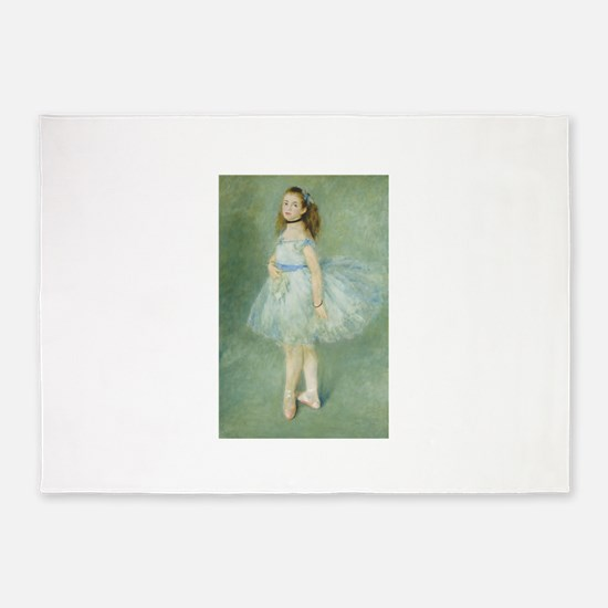 Auguste Renoir - The Dancer 5'x7'Area Rug
