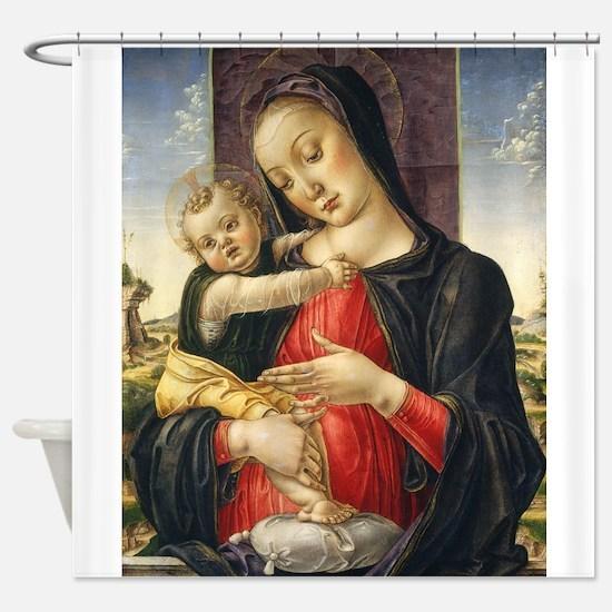 Bartolomeo Vivarini - Madonna and Child Shower Cur