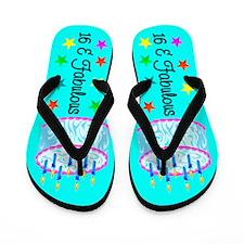 SWEET 16TH Flip Flops