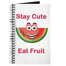 Stay Cute Eat Fruit Watermelon Journal
