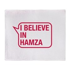 I Believe In Hamza Throw Blanket