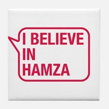 I Believe In Hamza Tile Coaster