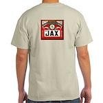 JAX Beer Label Ash Grey T-Shirt