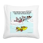 Fruited Plane Square Canvas Pillow