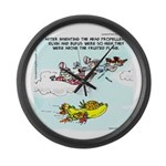 Fruited Plane Large Wall Clock