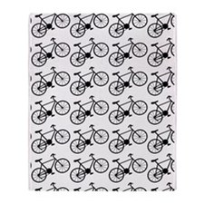 Bicycle Pattern Throw Blanket