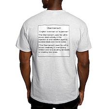 Olbermann is my Ubermensch Ash Grey T-Shirt