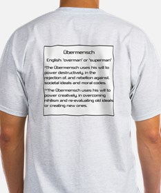 Olbermann is my Ubermensch Ash Grey T-Shirt