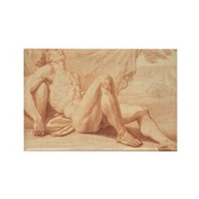 Bernard Picart - A Reclining Nude Rectangle Magnet